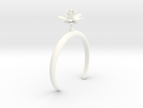 Choisya bracelet with one large flower in White Processed Versatile Plastic: Medium