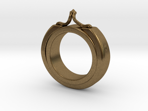 Ring size 7 in Natural Bronze