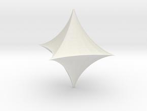 Hyperbolic Octahedron in White Natural Versatile Plastic
