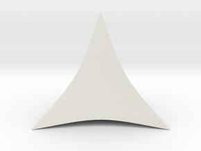 Hyperbolic Tetrahedron in White Natural Versatile Plastic