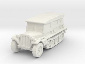 Sdkfz 10 B (covered) 1/120 in White Natural Versatile Plastic