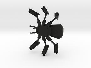 AM-222A Autonomous Combat Walker in Black Natural Versatile Plastic: 6mm