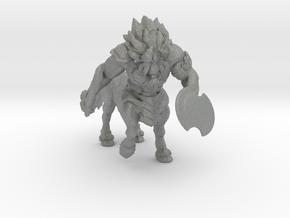 Centaur Lynel miniature model fantasy game dnd rpg in Gray PA12