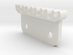Cable Clip Flat Mount in White Natural Versatile Plastic