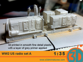 WW2 US Radio set A 1/35 scale in Smooth Fine Detail Plastic