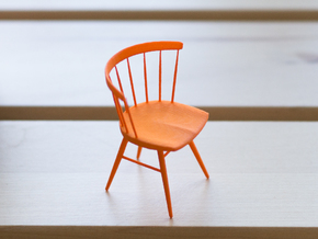 Nakashima Straight-Backed Chair - 6cm tall in Orange Processed Versatile Plastic