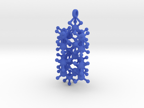 Sapphire Crystal Structure [1:24mil Scale] in Blue Processed Versatile Plastic