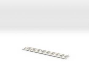 10Paar Drehgestellblenden für Düwag E1/c3/c4 E2/c5 in White Natural Versatile Plastic