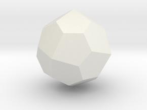 Pentagonal Icositetrahedron (dextro) - 1 Inch in White Natural Versatile Plastic