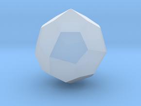 Pentagonal Icositetrahedron (dextro) - 10 mm in Smooth Fine Detail Plastic