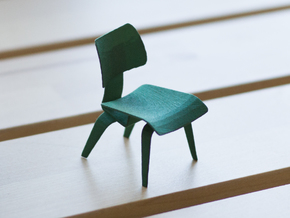 Eames Dining Chair in Green Strong & Flexible Polished