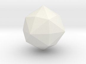 Disdyakis Dodecahedron - 1 Inch - Round V1 in White Natural Versatile Plastic