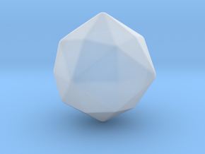 Disdyakis Dodecahedron - 10mm - Round V2 in Smooth Fine Detail Plastic