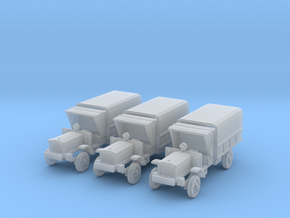 1/200 WW1 light trucks (3) in Frosted Ultra Detail
