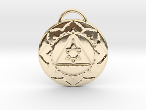 Lord Ganesha Tantra Pendant in 14K Yellow Gold