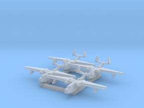 4pk Martin PBM5 Mariner seaplane bomber 1:2400 WW2 in Smoothest Fine Detail Plastic