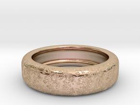 Rose Engraved Ring V2 in 14k Rose Gold Plated Brass