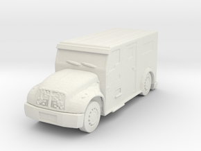 International Armored Truck 1/87 in White Natural Versatile Plastic