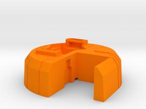 Starcom - Blast Track - Turret  in Orange Processed Versatile Plastic