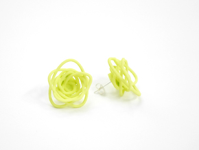 Sprouted Spirals Earrings (Studs) in White Strong & Flexible