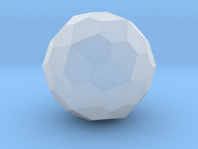 Pentagonal Hexecontahedron (Dextro) - 10 mm in Smooth Fine Detail Plastic