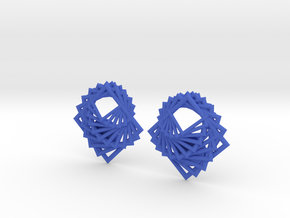 Arithmetic Earrings (Studs) in Blue Strong & Flexible Polished
