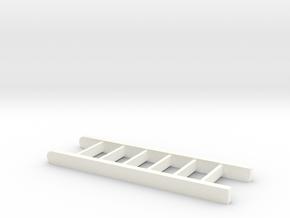 Ladder 6 Scale Feet in White Processed Versatile Plastic: 1:18