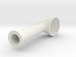 Elco Cowl 16th v2 in White Natural Versatile Plastic