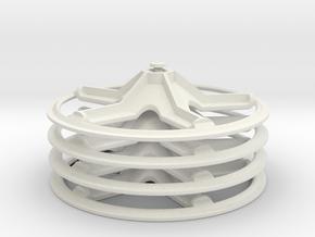 5 spoke rimcover, 4 piece set in White Natural Versatile Plastic