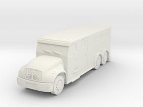 International Armored Truck 6x6 1/72 in White Natural Versatile Plastic