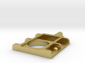 roundhouse dummy horn block in Natural Brass