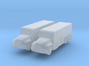 International Armored Truck 6x6 (x2) 1/350 in Smooth Fine Detail Plastic