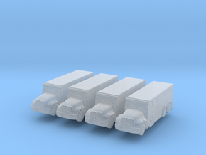International Armored Truck 6x6 (x4) 1/500 in Smooth Fine Detail Plastic