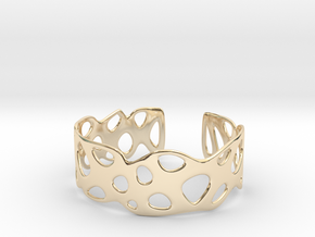 Cellular Bracelet Size L in 14K Yellow Gold