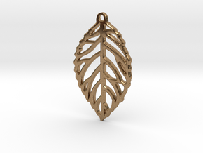 Leaf Pendant / Earring in Natural Brass