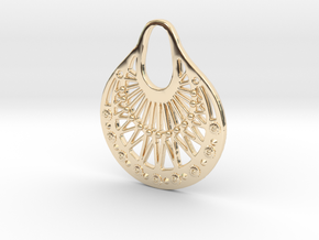 Ornamental Pendant / Earring in 14K Yellow Gold