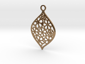 Floral Pendant / Earring in Natural Brass