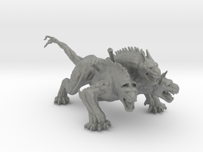 King Cerberus miniature model fantasy game dnd rpg in Gray PA12