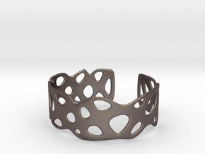 Cellular Bracelet Size M in Polished Bronzed Silver Steel