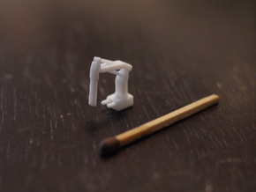 Crane (1:200), 4 pieces on sprue in White Processed Versatile Plastic