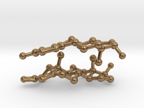 Testosterone and Estrogen SMALL in Natural Brass