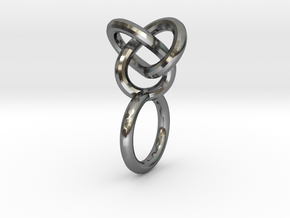 knot ring_series 1 in Polished Silver: 9 / 59