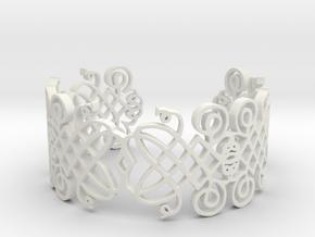Decorative Bracelet v01 in White Natural Versatile Plastic