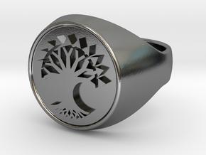 Selesnya MTG signet ring in Polished Silver: 9 / 59