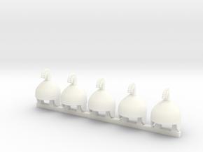 5 x Assyric T2 in White Processed Versatile Plastic