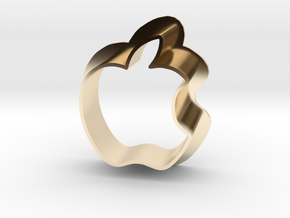 Apple Logo with bite in 14K Gold
