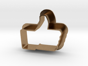 Cookie Cutter LIKE - I like it Logo in Natural Brass