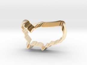 Cookie Cutter USA - Country America  in 14K Gold