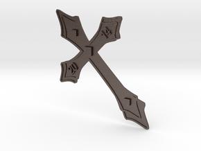 Holy Cross 2014 (Kreuz 2014) in Polished Bronzed Silver Steel