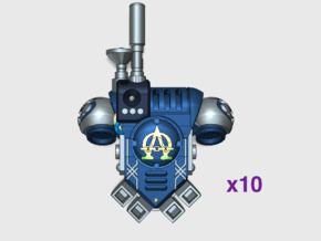 10x Alpha Omega - Prime:1 Comms PAC in Smooth Fine Detail Plastic